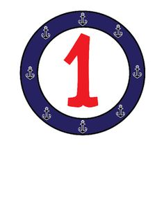FREEBIE: Nautical numbers 1 through 4 great to use for group signs, box labels, etc.