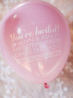 custom pink wedding balloons