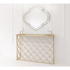 Buy the beautifully designed Fitzgerald Gold Console Table, by The French Bedroom Company. Gold Frame, Radiator Cover, Art Table, Console, Table, Gold Mirror, French Furniture Bedroom, Console Table, Inspiration
