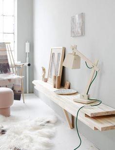 DIY-Wandregal aus hellem Holz   Schöner Wohnen