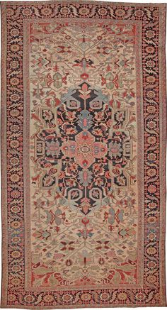Antique Heriz Serapi Persian Rugs #44085 http://nazmiyalantiquerugs.com/antique-rugs/heriz-rugs/