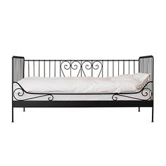 MEDAL ikea day bed (looks a bit stark in black, no?) We have this bed in black and it actually looks alot better than the picture.