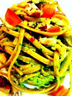 crab pesto linguine - #Recipe #food #pasta