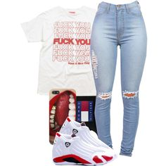 A fashion look from November 2014 featuring Mishka t-shirts and Tommy Hilfiger hats. Browse and shop related looks.