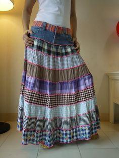 Самостоятельно шьём юбку из старых джинсов — Страна Handmade