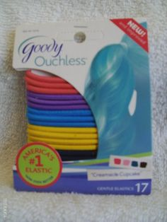 Goody Ouchless Creamsicle Cupcake Gentle Elastics 17 Count -- Check this awesome product by going to the link at the image.(This is an Amazon affiliate link and I receive a commission for the sales)