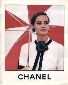 Chanel ad 1991 feat Nadege du Bospertus