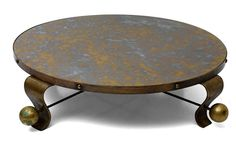 Arturo Pani Cocktail Table with Four Legs | From a unique collection of antique and modern coffee and cocktail tables at https://www.1stdibs.com/furniture/tables/coffee-tables-cocktail-tables/