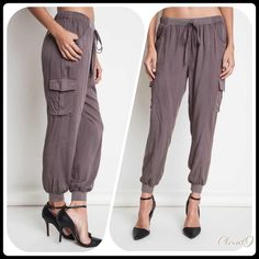 Last one left 🍁Simply Sephia Harem Joggers Completely and Utterly Neutral perfection. Style ease. Gorgeous Sephia Harem Joggers . Has pockets. Size: Large.Please DO NOT PURCHASE THIS LISTING but specify size & I'll create separate listing. 🍁Top on third style pic is on my closet🍁. Brand new no tags. Price FIRM UNLESS BUNDLED. ❌NO PP AND NO TRADES❌ Cloud 9 Pants Track Pants & Joggers