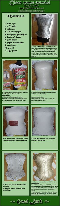 This method can be easily modified to make armor for any part of the body! <3 Chest armor tutorial by *EnjiNight on deviantART