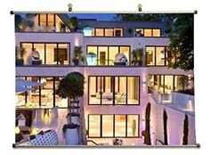 Luxury Mansion - Canvas Wall Scroll Poster (60x80 cm)