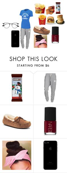 """""""Untitled #649"""" by pooka515 on Polyvore featuring Hershey's, Religion Clothing, UGG Australia, NARS Cosmetics and Ray-Ban"""