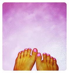 full pedi! Opi shade: Pink Friday (nicki minaj collection)