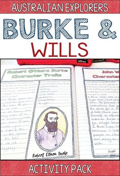 Burke and Wills Australian Explorers Unit. This activity pack will help to make your Australian History lessons fun and engaging. You'll find teaching ideas, resources and even assessment tasks, designed especially for Year 5 HASS Australian History. Primary Teaching, Primary Classroom, Primary School, Teaching History, Teaching Resources, Teaching Ideas, Curriculum Planning, Homeschool Curriculum, Federation Of Australia