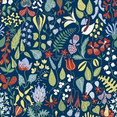 Blumentapeten jetzt günstig kaufen bei Tapetenmarkt - Tapetenmarkt.de herbarium - stig lindberg