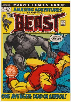 Amazing Adventures #12 VF-: The Beast, X-Men cameo, Iron Man guests, Tom Sutton and Mike Ploog interior artwork, Gil Kane cover art. $38