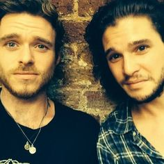 Richard Madden (Robb Stark) & Kit Harington (Jon Snow)