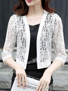 2018 Summer Spring Women Lace Blouse Shirts Korean Fashion Clothing Ladies Kimono Cardigan Female Plus Size Women Clothing Cardigan Shirt, Cardigan Fashion, Lace Cardigan, Knit Vest, Plus Size Womens Clothing, Clothes For Women, Korean Blouse, Patron Vintage, Shirt Blouses