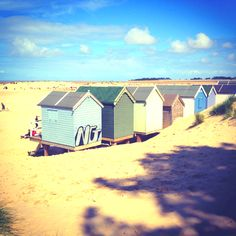Beach huts, wells, Norfolk