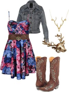 """Country girls day out"" #countrygirl #countryoutfit #countryfashion For more Cute n' Country visit: www.cutencountry.com and www.facebook.com/cuteandcountry"