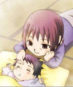 Uchiha Sasuke, Uchiha Itachi-- Evangeline, Gaara's eve cuter as a baby ;p