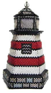 A beaded lighthouse.