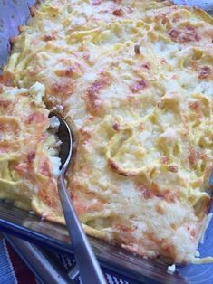 Lachs-Käse-Spätzle-Auflauf