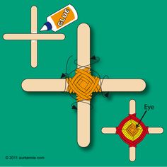 How to make a God's Eye /El Ojo de Dios
