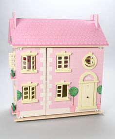 Take a look at this Painted Wooden Doll's House by Le Toy Van on #zulily today!