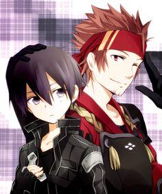 /Sword Art Online/#1362078 - Zerochan   A-1 Pictures   Reki Kawahara   abec / Kirito and Klein / 「キリトとクライン」/「月森うさこ」のイラスト [pixiv]