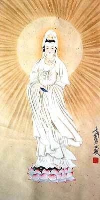 Enter code PINTEREST20 at checkout to get 20% off with free shipping anywhere in the world!!  This painting of the sun lady can be found at http://the-gallery-of-china.com/chinese-art-miscellaneous-10.html.   In order to thank you for your interest in our original Chinese paintings, we would like to offer you 20% off any painting on the site.