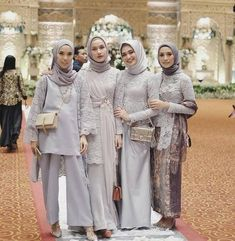 17 Ideas party dress for women wedding brides Model Kebaya Muslim, Model Kebaya Brokat Modern, Kebaya Modern Hijab, Dress Brokat Modern, Kebaya Hijab, Kebaya Dress, Hijab Dress Party, Hijab Style Dress, Simple Bridesmaid Dresses