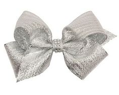 Wee Ones Silver Foil Rhinestone Knot Hair Bow