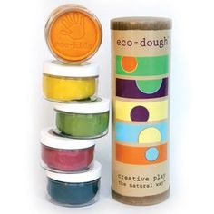 NEW Eco Kids Natural Plant Dye Modeling Dough Made in the USA