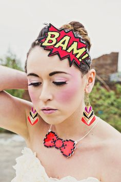 Janine Basil Hats BAM Headband - Superhero pride on your head.