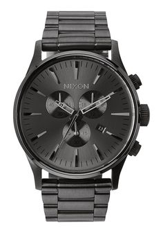 Nixon Sentry Chrono - All Gunmetal - best mens designer watches, mens black watches sale, cheap mens dress watches