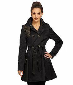 Betsey Johnson FitandFlare Eyelet Trench Coat #Dillards