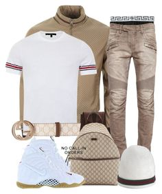 #31 CHRISTMAS DAY flow by ebkkeef on Polyvore featuring polyvore, fashion, style, Gucci, Balmain, Versace, NIKE and clothing