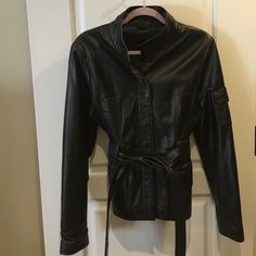 Leather Jacket Beautiful ARDEN B leather jacket ! Leather. Gently used. It's a size Large but honestly fists like a Medium :) Arden B Jackets & Coats
