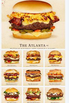 The illustrated rankings of favorite sandwiches tag yourself – Artofit Burger Menu, Burger Toppings, Gourmet Burgers, Burger And Fries, Burger Recipes, Beef Recipes, Cooking Recipes, Burger Ideas, Burger Bar