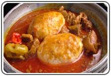 Ghanaian Dishes, Food, Dining and Restaurant - Ghana Tourism Homepage  Rice balls and palm nut soup