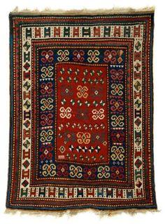 Kazak rug, southwest caucasus, circa late 19th century.  Freeman's carpet sale 9 October 2013