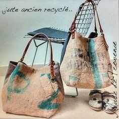 """""""Mi piace"""": 66, commenti: 3 - Création cabas en pièce unique (@musedeprovence) su Instagram: """"Jute ancien recyclé-Upcycling Burlap #lifestyle #style #fashiongram #bohochic #boheme #recycling…"""""""
