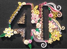 Quilled numbers