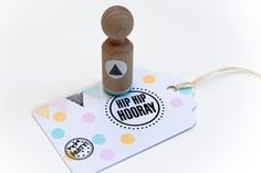 Driehoekjes stippel stempel met mintkleurig door MissHoneyBird, €3.95 #Pin&WinSpring