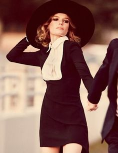 the oversize hat. kate bosworth by guy aroch
