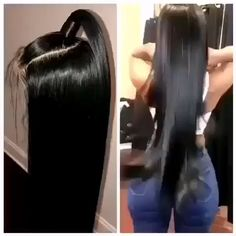 Sunrisehumanhair top quality human hair silky Straight full lace Wigs natural hairline, human brazilian hair glueless Wig full lace with baby ha Formal Hairstyles For Long Hair, Wedding Hairstyles For Long Hair, Straight Hairstyles, Short Hair Wigs, Human Hair Lace Wigs, Long Hair Wedding Styles, Long Hair Styles, Long Hair Video, Japanese Hairstyle