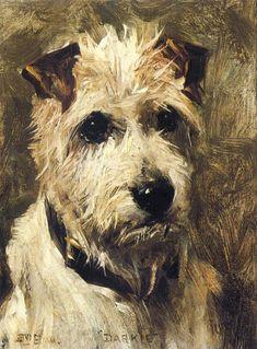 """John Emms: """"Portrait of a Terrier,"""", 1903."""