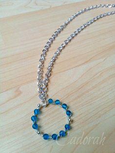 Bead wrapped pendant