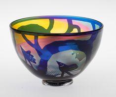 Bertin Vallien - Glass vase for Kosta Boda, Sweden. Kosta Boda, The Wiz, Scandinavian Design, Decorative Bowls, Glass Art, Artisan, Porcelain, Tableware, Sweden